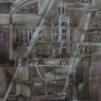 «Основание города» Бум., акварель, акрил 60х42 2009 год