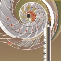 Имиджевый графический лист «Кафедра дизайна» из серии «Институт искусств» Комп. графика 70х50 2010 год