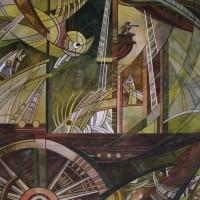 Лист «Путешествие к краю Земли» из триптиха Бум., акварель 40.5х56 2012 год