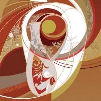 Имиджевый графический лист «Кафедра декоративно-прикладного искусства» из серии «Институт искусств» Комп. графика 70х50 2010 год