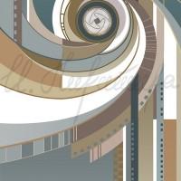 Имиджевый графический лист «Кафедра фотовидеотворчества» из серии «Институт искусств» Комп. графика 70х50 2010 год