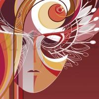 Имиджевый графический лист «Кафедра театрального искусства» из серии «Институт искусств» Комп. графика 70х50 2010 год