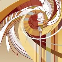 Имиджевый графический лист «Кафедра дирижирования и академического пения» из серии «Институт искусств» Комп. графика 70х50 2010 год