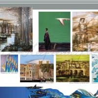Разворот буклета к выставке «Живопись» А. Дрозда