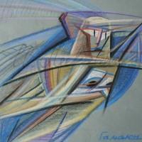 Лист «Гамаюн» из триптиха «Три грации» С. пастель 25х25 2010 год