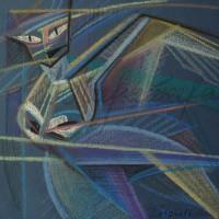 Лист «Сирин» из триптиха «Три грации» С. пастель 25х25 2010 год