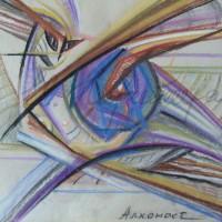 Лист «Алконост» из триптиха «Три грации» С. пастель 25х25 2010 год