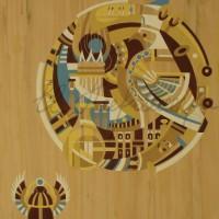 Лист «Хранитель» из триптиха Бум., гуашь 56х37 2011 год