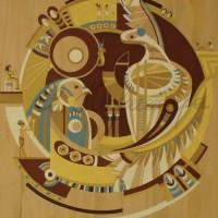 Лист «Царская династия» из триптиха Бум., гуашь 56х37 2011 год