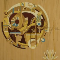 Лист «Сердце лотоса» из триптиха Бум., гуашь 56х37 2011 год