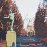 Лист 1 из диптиха «Прогулки по Парижу» Бум., гуашь 50х50 2010 год