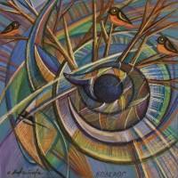 Лист «Козерог» из серии «Зодиак» Пастель 40х40 2013 год