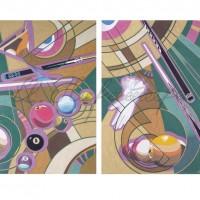 Диптих «Игра в бильярд» 2010 год
