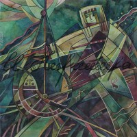 """лист """"Колыбельная"""" из триптиха """"Горная Шория"""" Смеш. техника, 40х40, 2015 год"""