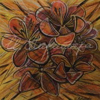 В райском саду. Тюльпаны 1 Смеш. техника 18х18 2015 год