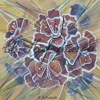 В райском саду. Китайская роза 1 Смеш. техника 18х18 2015 год