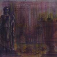 Люксембургский сад диптих часть 1 Акварель цв. карандаши 30х40 19.08.15 год