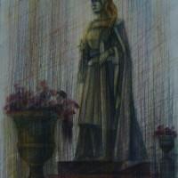 Люксембургский сад диптих часть 2 Акварель цв. карандаши 40х30 6.08.15 год