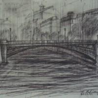 Мост Арколь Тон. бум., сепия 30х40 20.07.15 год