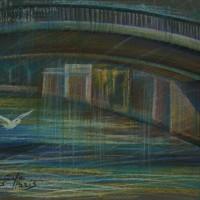 Мост Сент Луис Тон. бум., с. пастель 30х40 22.07.15 год