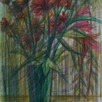 Натюрморт с цветами Цв. карандаши 40х30 7.07.15 год