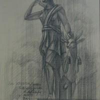 Сад Тюэльри Тон. бум., черный карандаш 40х30 10.08.15 год