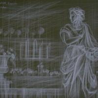 Сад Тюэльри Тон. бум., белый карандаш 40х50 26.07.15 год