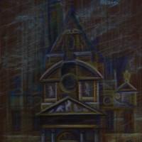 Собор святого Этьена Тон. бум., с. пастель 40х30 8.08.15 год