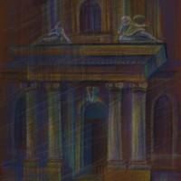 Собор святого Николая Тон. бум., с. пастель 40х30 14.08.15 год