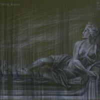 Версаль Тон. бум., серый и черный карандаш 40х50 9.08.15 г.