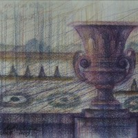 Версаль диптих часть 2 Акварель цв. карандаши 21х30 25.07.15 год