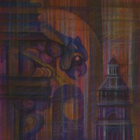 Прогулки по Парижу, триптих. Лист 1. Сакрекер. Монмартр Бум., с. пастель, 40х40 2015 год