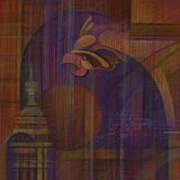 Прогулки по Парижу, триптих. Лист 3. Сакрекер. Монмартр Бум., с. пастель, 40х40 2015 год
