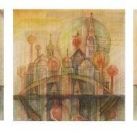 Колокольный звон триптих Бум., акварель, цв. карандаши 2016 год